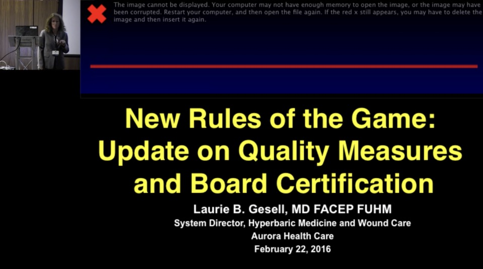 New Rules of the Game: An Update on Quality Measures and Board Certifications, by Laurie Gesell, MD, FACEP, FUHM