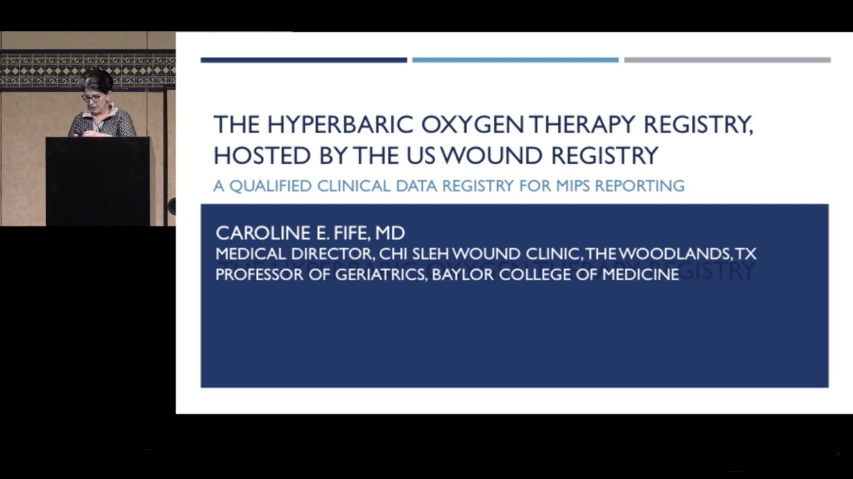 The Hyperbaric Oxygen Therapy Registry- Hosted by the US Wound Registry: A Qualified Clinical Data Registry for MIPS Reporting